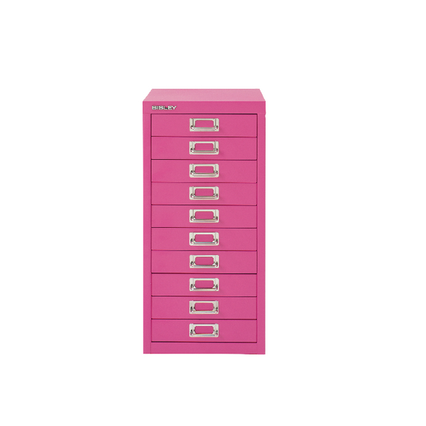 Bisley 10 Drawer Cabinet Fuschia BY78742