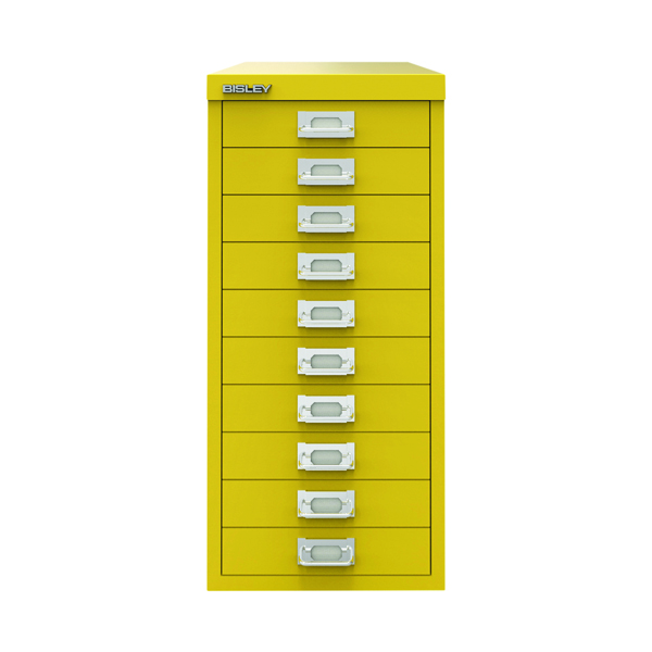 Bisley 10 Drawer Cabinet Canary Yellow BY78744