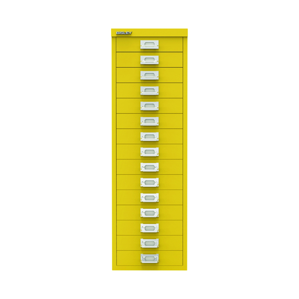 Other Bisley 15 Drawer Cabinet Canary Yellow BY78745