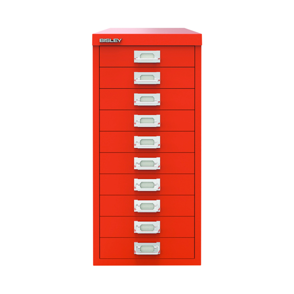 Other Bisley 10 Drawer Cabinet Mandarin BY78746