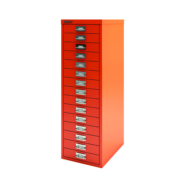Other Bisley 15 Drawer Cabinet Mandarin BY78747