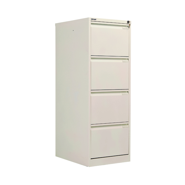 Four Drawer Bisley BS4E Filing Cabinet Flush Front 4D Lock Chalk BS4E/CHK