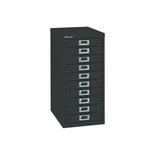 Multi-drawer Bisley 10 Drawer Cabinet Black BY99639