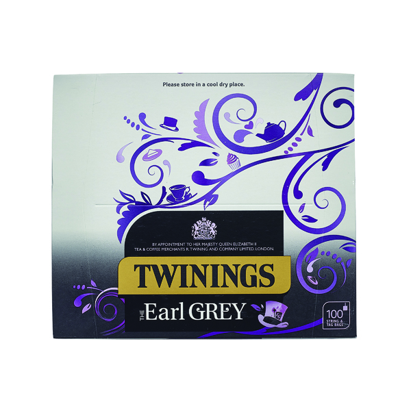 Tea Twinings Earl Grey String and Tag Tea Bags (100 Pack) F09363