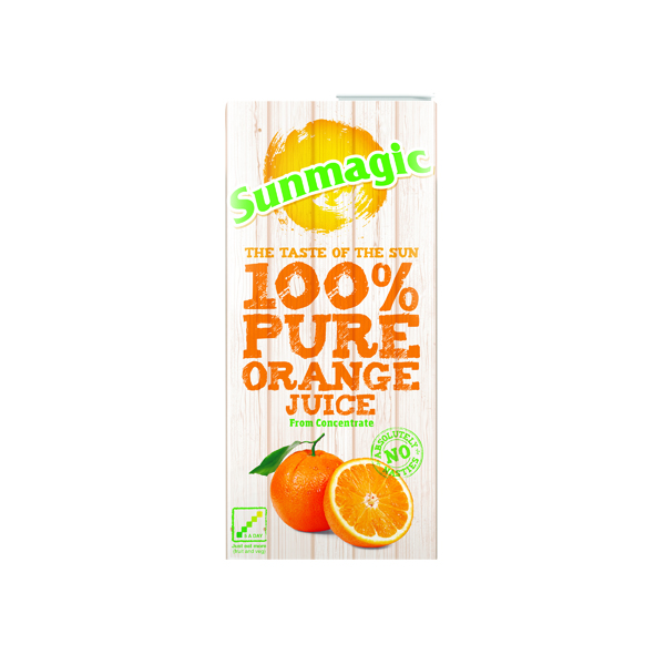 Cold Drinks Pure Orange Juice 1 Litre Cartons (12 Pack) A08067