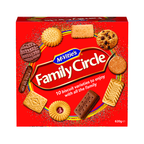 Biscuits McVitie's Family Circle Biscuit Assortment 670g 35112