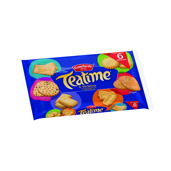 Biscuits Crawford Teatime Assorted Biscuits 275g 21421