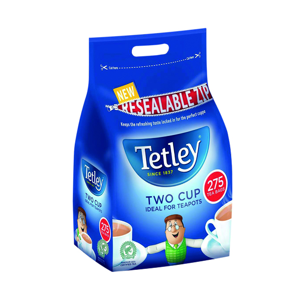 Tea Tetley Two Cup Tea Bags (275 Pack) A07965