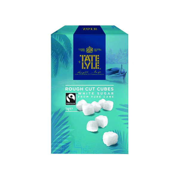 Sugar / Sweetener Tate & Lyle Rough Cut White Sugar Cubes 1kg A03902