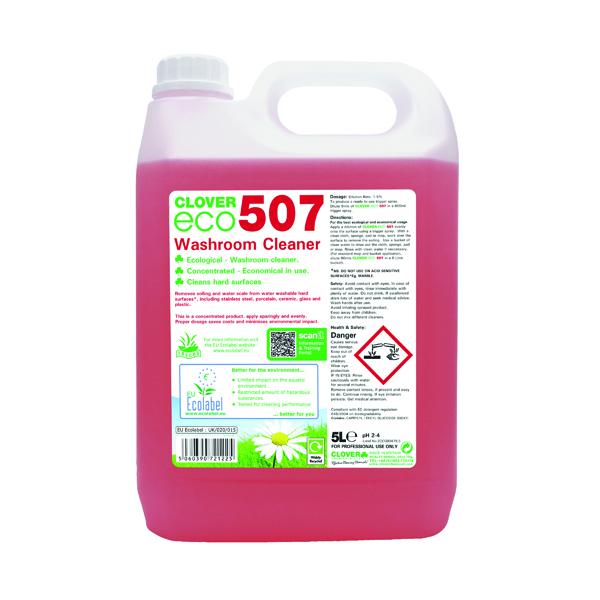 Kitchen/Washroom Cleaning Clover ECO 507 Washroom Cleaner 5 Litre (2 Pack) 507