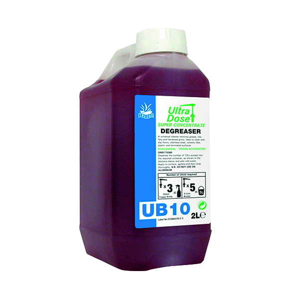 Cleaning Chemicals Clover UB10 Degreaser Concentrate 2 Litre 991