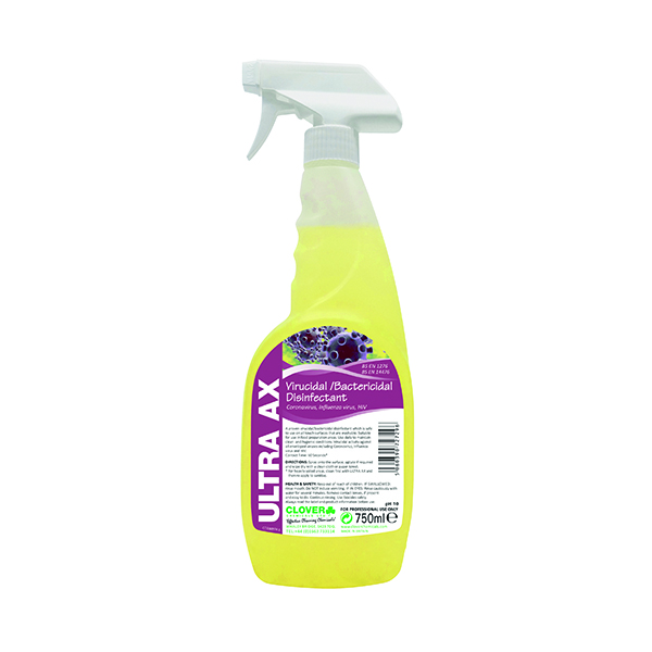 Cleaning Chemicals Ultra AX Disinfectant Spray 750ml (6 Pack) 259