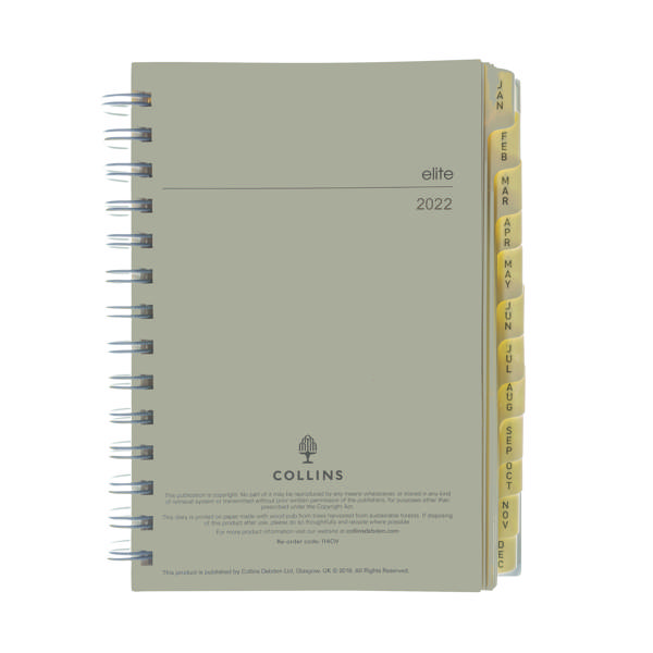 Day a Page Collins Elite Compact Day Per Page Refill 2022 1140R