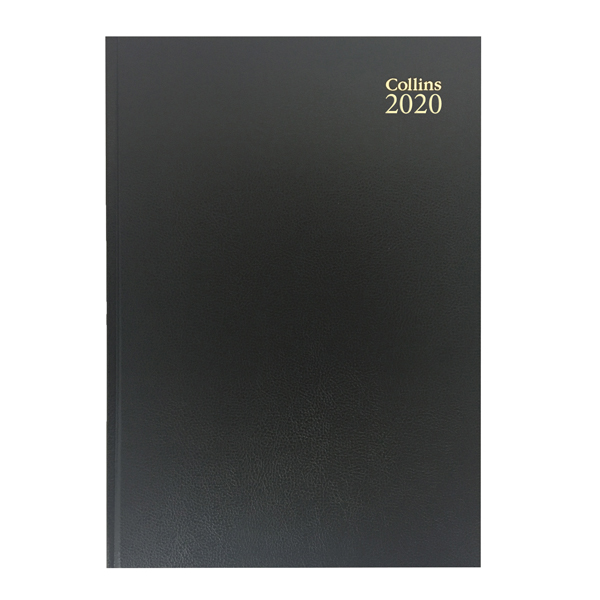 Collins Desk Diary A5 Week to View 2020 Black 35