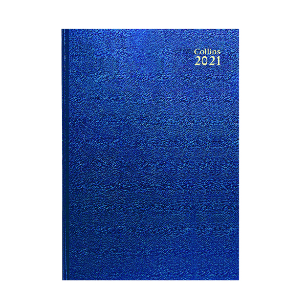 Week to View Collins Desk Diary Week to View A5 Blue 2021 35