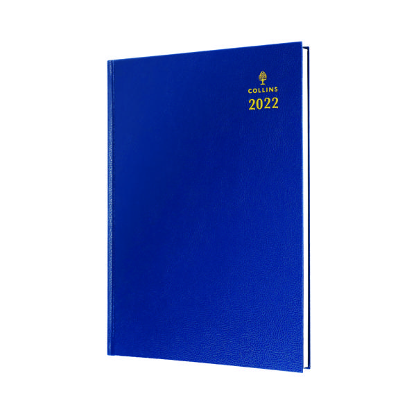 Week to View Collins A5 Desk Diary Week To View Blue 2022 35.60-22