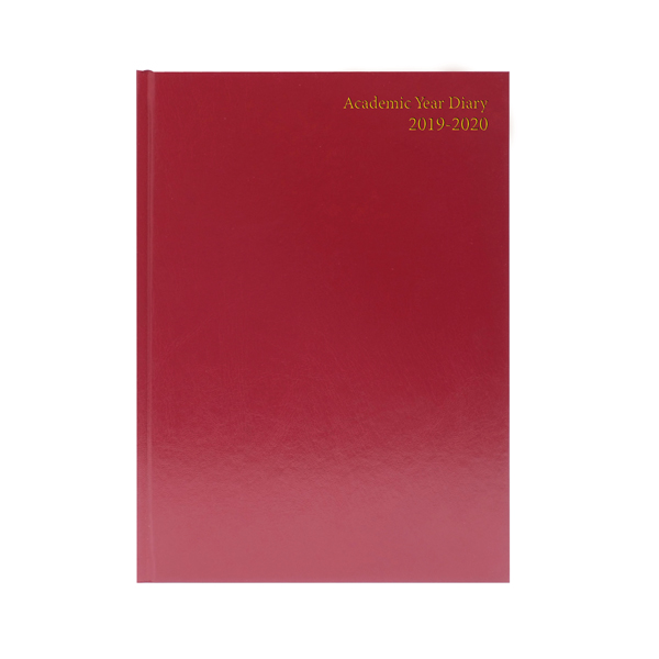 Collins Desk Diary A5 Week to View 2020 Red 35