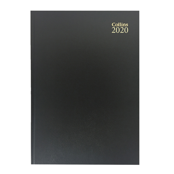 Collins Desk Diary A4 Week to View 2020 Black 40