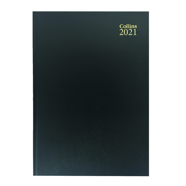 Week to View Collins Desk Diary Week to View A4 Black 2021 40