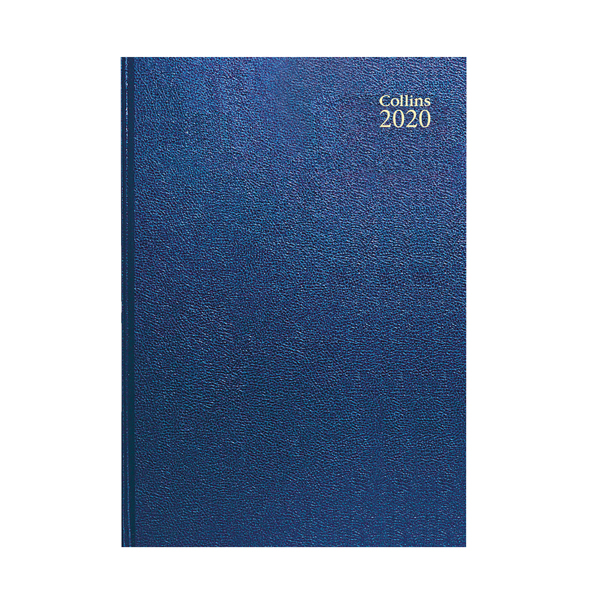 Week to View Collins Desk Diary A4 Week to View 2020 Blue 40
