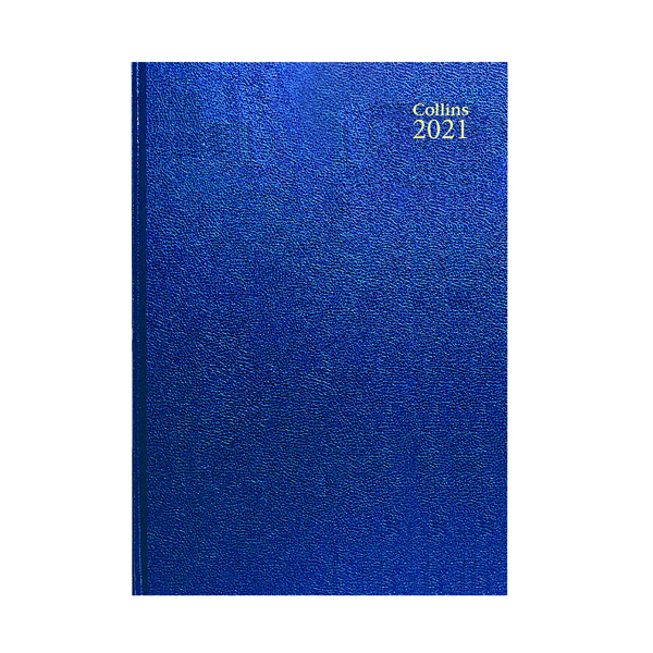 Week to View Collins Desk Diary Week to View A4 Blue 2021 40