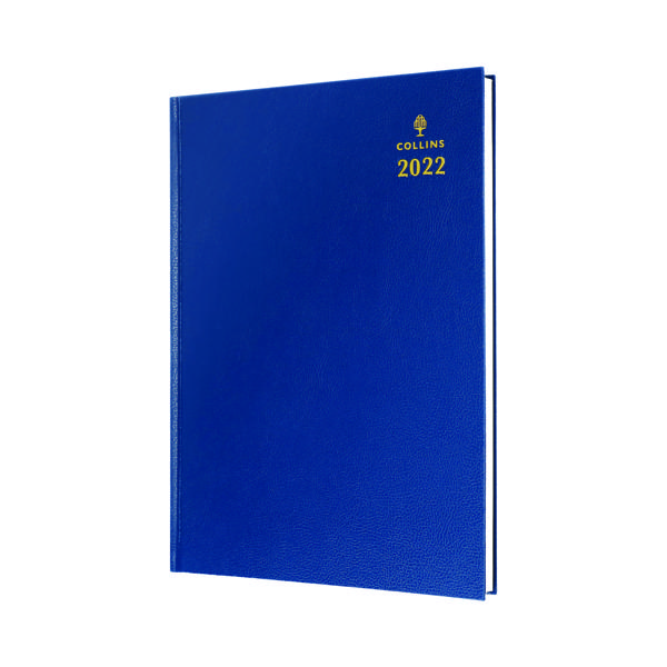 Week to View Collins A4 Desk Diary Week To View Blue 2022 40.60-22