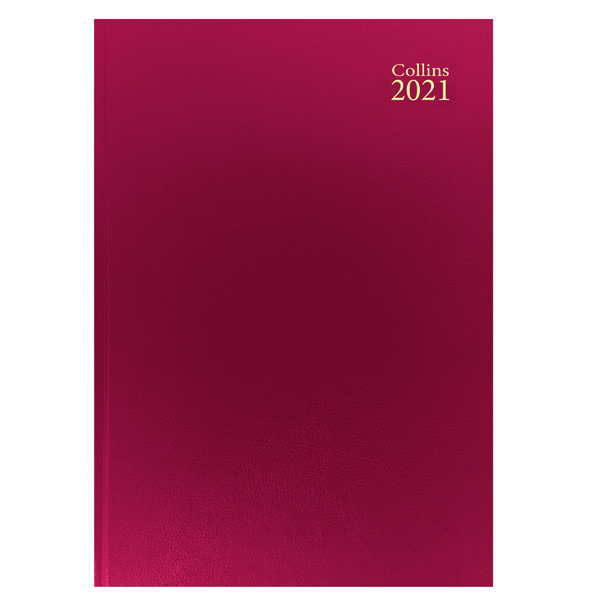 Week to View Collins Desk Diary Week to View A4 Red 2021 40