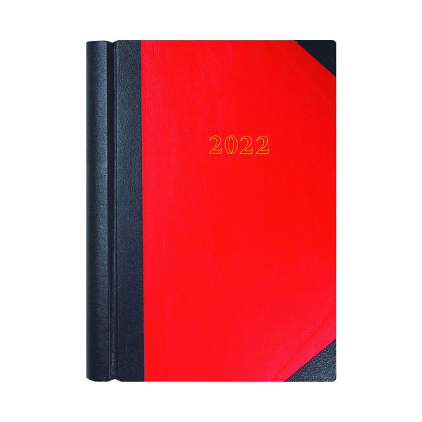 2 Pages a Day Collins A4 Desk Diary 2 Page Per Day Black/Red 2022 42