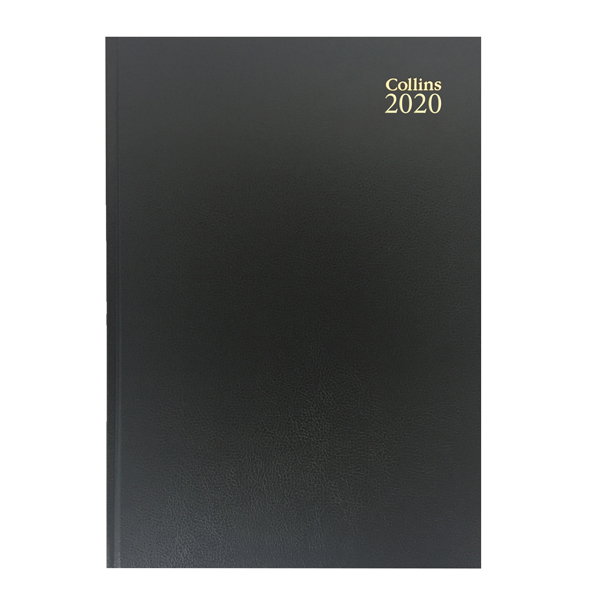 Day a Page Collins Desk Diary A4 Day Per Page 2020 Black 44