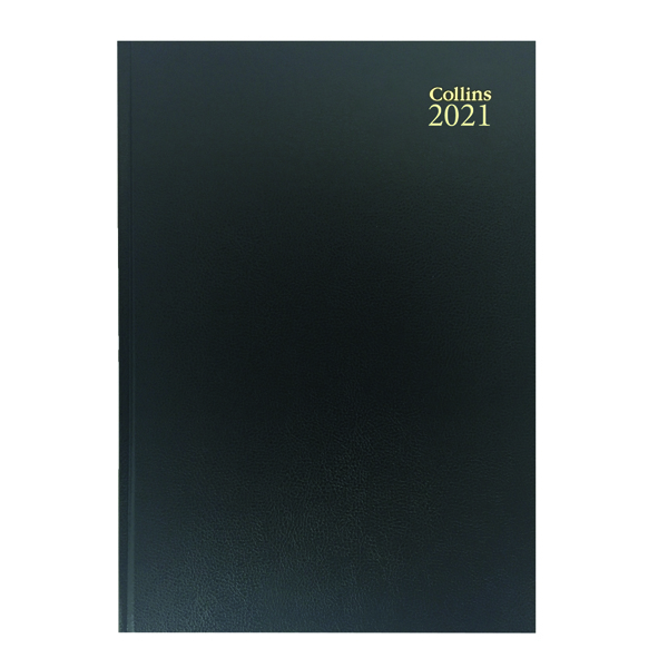 Day a Page Collins Desk Diary Day Per Page A4 Black 2021 44