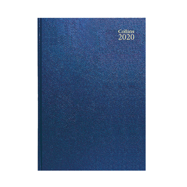 Day a Page Collins Desk Diary A4 Day Per Page 2020 Blue 44