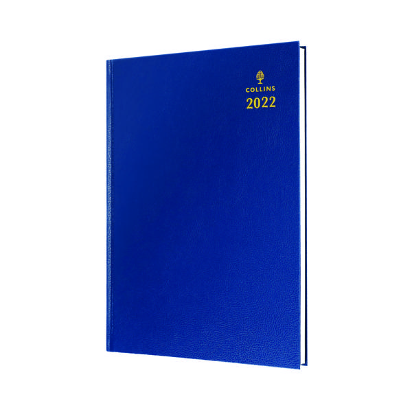 Day a Page Collins A4 Desk Diary Day Per Page Blue 2022 44.60-22