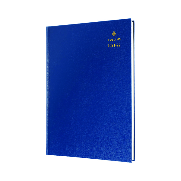 Academic Collins Academic Diary Day Per Page A4 Blue 2021-22 44MBLU