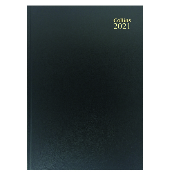 Day a Page Collins Desk Diary Day Per Page A5 Black 2021 52