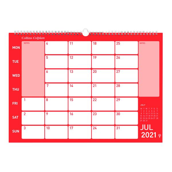 Calendars Collins Memo Calendar A3 2021 CMC