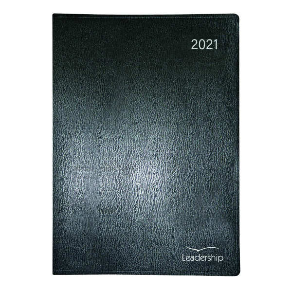 Week to View Collins Leadership Diary Week to View Appointment A4 Black 2021 CP6740