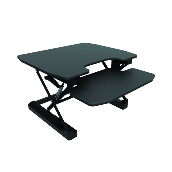 Desktops Contour Ergonomics Sit-Standing Desk Black CE04633