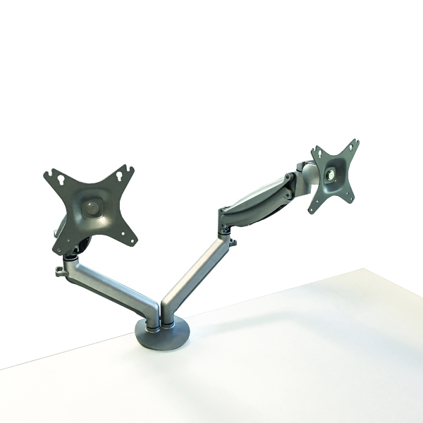 Contour Ergonomics Double Monitor Arm Silver CE77693