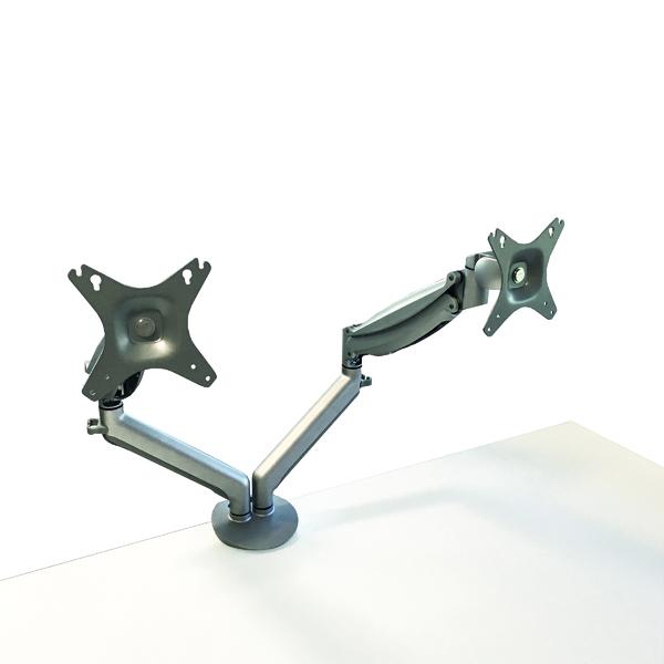 Arms Contour Ergonomics Double Monitor Arm Silver CE77693