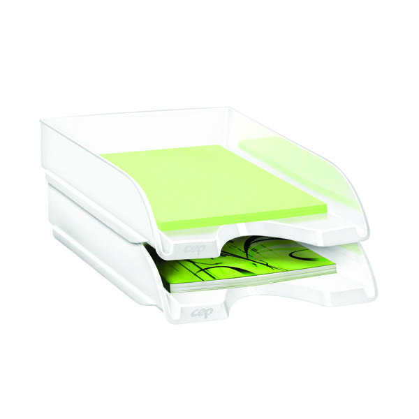 Letter Tray CEP Pro Gloss Letter Tray White 200GWHITE
