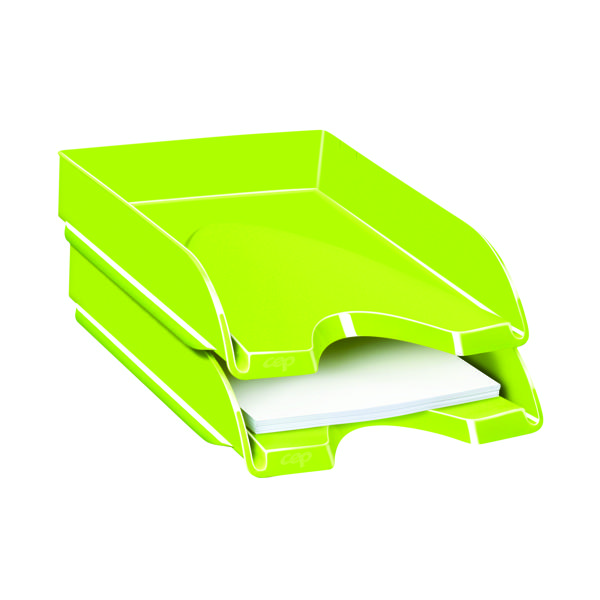 Letter Tray CEP Pro Gloss Letter Tray Green 200GGREEN