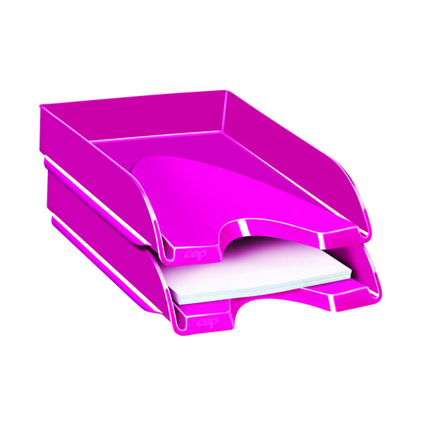 Letter Tray CEP Pro Gloss Letter Tray Pink 200GPINK