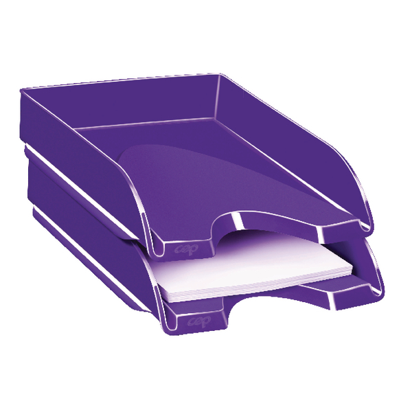 Letter Tray CEP Pro Gloss Letter Tray Purple 200GPURPLE