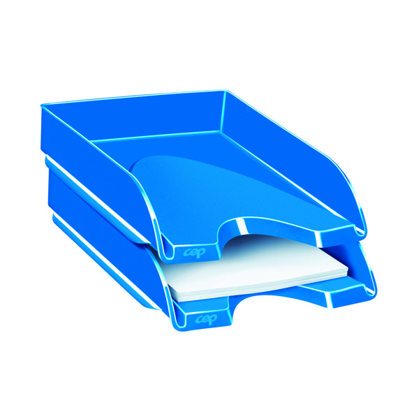 Letter Tray CEP Pro Gloss Letter Tray Blue 200GBLUE