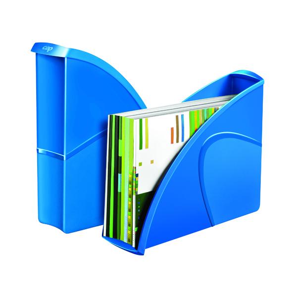 Magazine Files CEP Pro Gloss Magazine File Blue 674GBLUE