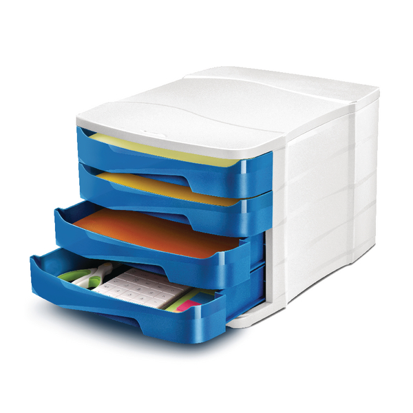 4 Drawer CEP Pro Gloss 4 Drawer Set Blue 394GBLUE