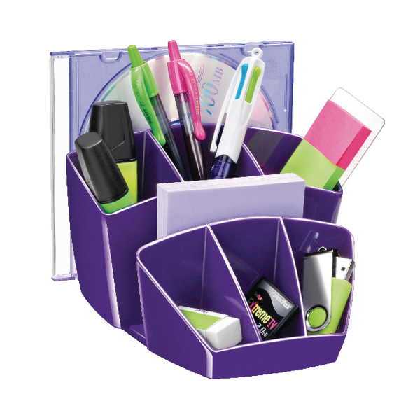 Organiser CEP Pro Gloss Desk Tidy Purple 580GPURPLE