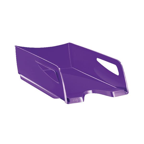 CEP Maxi Gloss Letter Tray Purple 1002200032