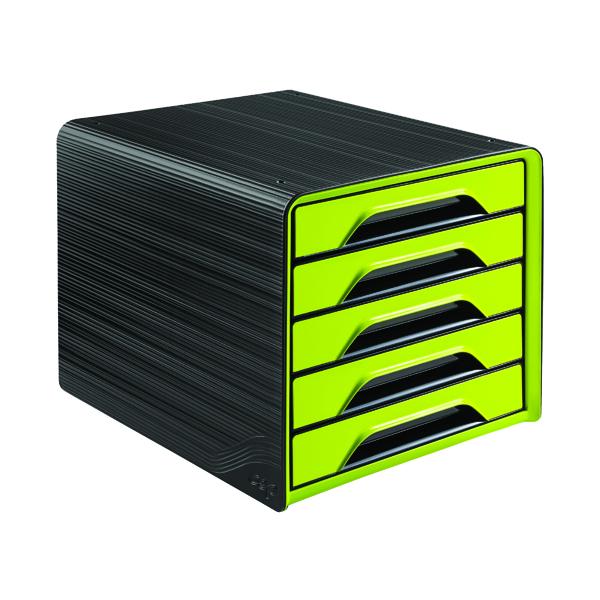 5 Drawer CEP Smoove 5 Drawer Module Black/Green 1071110301