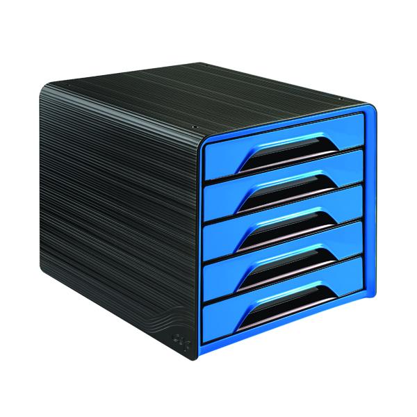 5 Drawer CEP Smoove 5 Drawer Module Black/Blue 1071110351